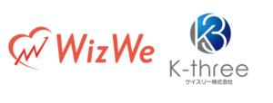 Wiz We and K-Three logo